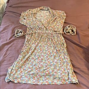 French Connection yellow flower dress size 8
